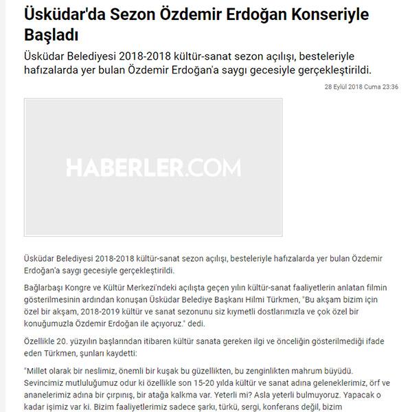 2018-2019 Kültür-Sanat sezon açılışı Özdemir Erdoğan Saygı Gecesi