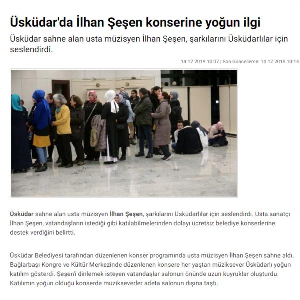 İLHAN ŞEŞEN KONSER